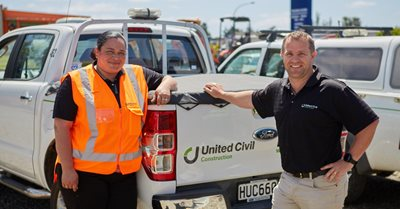 Tania Tipene, and Greg Whitehorn – Project Manager, United Civil