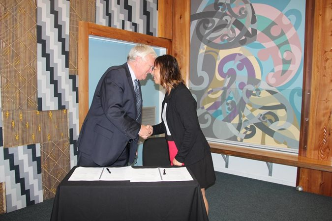 Signing cements relationship with Te Uri o Hau